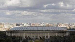 Vista do estádio Luzhniki, escolhido para acolher jogos da Copa de 2018, na Rússia.