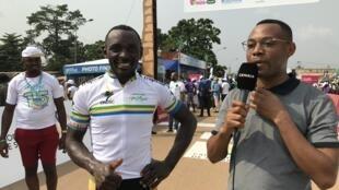 Clovis Kamzong remporte la quatrième étape de la Tropicale Amissa Bongo, le jeudi 23 janvier 2020.