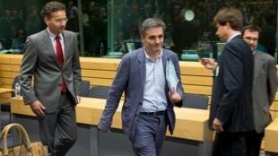 Le président de l'Eurogroupe Jeroen Dijsselbloem à son arrivée, à Bruxelles, le 7 juillet.