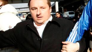 Michael Spavor tại sân bay Bắc Kinh, Trung Quốc, ngày 13/01/2014.
