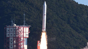 Tên lửa Epsilon-4 được phóng đi từ trung tâm không gian Uchinoura, Kagoshima, Nhật Bản, ngày 18/01/2019