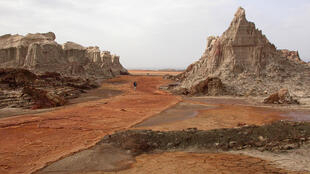Eastern Afar region in Ethiopia, severly hit by drought