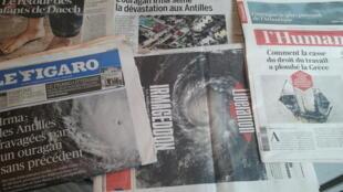 Primeiras páginas dos jornais franceses de 07 de setembro de 2017