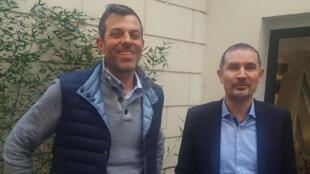 Sébastien Couasnet, fondateur et directeur général du groupe suisse Eléphant Vert, et Thierry Fornas, président de la société française EcoAct.