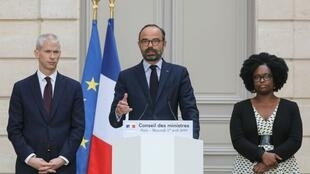 کنفرانس مطبوعاتی ادوارد فیلیپ، نخست وزیر فرانسه پس از جلسه هفتگی دولت در کاخ الیزه. چهارشنبه ۲۸ فروردین/ ١٧ آوریل ٢٠۱٩
