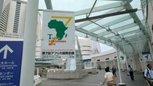បដាTokyo International Conference on African Development (TICAD) នៅYokohama ថ្ងៃទទី២៧ សីហា ២០១៩