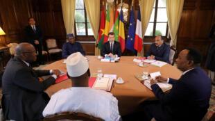 Emmanuel Macron tare da shugabannin kasashen yankin Sahel