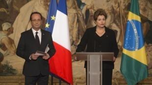 François Hollande a reçu son homologue brésilienne Dilma Rousseff le 11 décembre 2012, à l'Elysée.