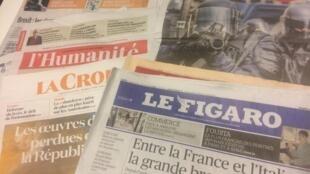 Primeiras páginas dos jornais franceses de 18 de janeiro de 2019