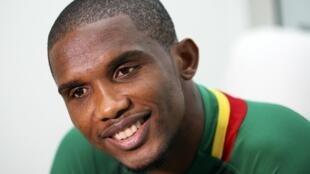 Samuel Eto'o, capitaine des Lions Indomptables.