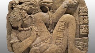 Monumento 114 de Toniná, Clásico Tardío (600-900 d.C.).