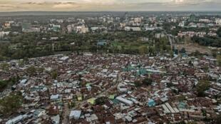 The Kibera slum in Nairobi, Kenya