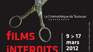 Biểu tượng của Liên hoan phim bị cấm và kiểm duyệt ở Toulouse