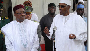 Shugaban Najeriya Muhammadu Buhari da takwaransa na Nijar  Mahammadou Issoufou a Abuja