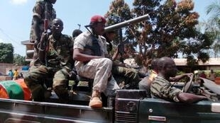 Seleka fighters going to Bossangoa, where 60 people were killed in September