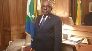 Azali Assoumani, président des Comores à Paris, le 5 décembre 2019.