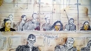 Cinq femmes comparaissent devant la cour d'assises de Paris. Parmi elle, Inès Madani (à gauche).