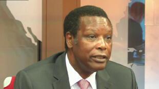 Pierre Buyoya, antigo presidente do Burundi e actualmente representante especial da União Africana para o  Malie Mali e o Sael nos  estúdios  da RFI  em Paris. 2018
