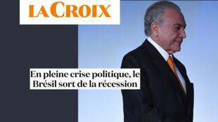 O jornal francês La Croix desta sexta-feira (2) analisa o crescimento de 1% da economia brasileira no primeiro trimestre deste ano, apesar da crise política pela qual está passando.