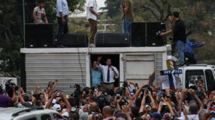 Lãnh đạo đối lập tổ chức mít-tinh tại Caracas, ngày 29/03/2019.