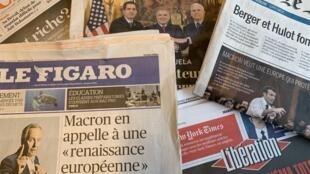 Primeiras páginas jornais franceses 5/03/2019