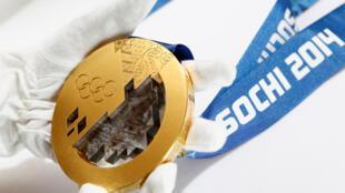 Золотая медаль Зимних Олимпийский игр в Сочи 2014 года