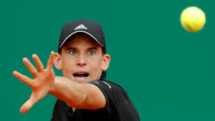Monte Carlo Masters - Monte-Carlo Country Club, Monte Carlo, Monaco - April 17, 2018 Austria's Dominic Thiem in action during his second round match against Russia's Andrey Rublev