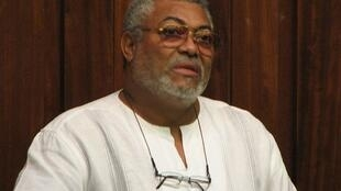 Former president of Ghana  and currently AU High Commissionner Jerry Rawlings