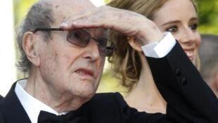 Мануэл де Оливейра на праздновании своего дня рождения (106 лет)