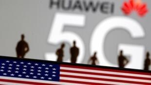 Logo của Hoa vi mạng 5G. Ảnh minh họa.