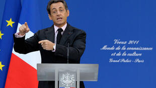 Sarkozy gives a new-year message to public employees