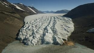 Le glacier Taylor en Antarctique.