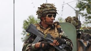 French troops in Bangui earlier this week