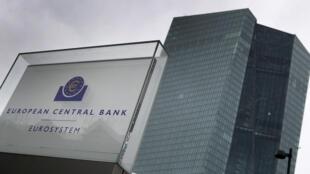 La sede del Banco Central Europeo, en una imagen tomada el 12 de marzo de 2020 en la ciudad alemana de Fráncfort