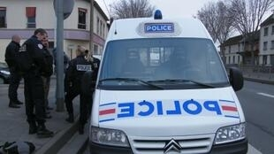 Police officers carry out a police operation in the northeastern suburb of Bobigny, Paris