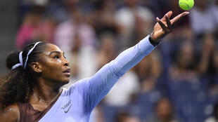 Serena Williams le 6 septembre 2018 à l'US Open à New-York
