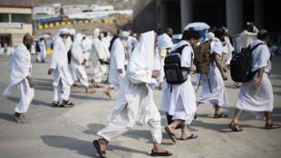 Khác hành hương đổ dồn về Thánh đường Mecca ngày 21/09/2015.