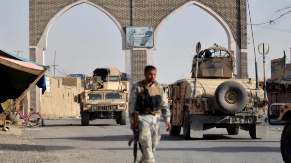 Афганские военные в городе Газни в марте 2018 года