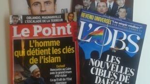 As capas das revistas francesas desta semana.