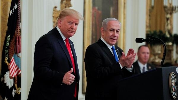 Трамп представил свой «исторический» план в присутствии израильского премьера Нетаньяху. Вашингтон. 28.01.2020