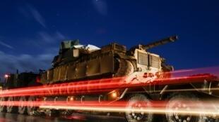 Renforts militaires turcs pour la région d'Idleb, ce 7 février 2020.
