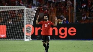 Mohamed Salah scored the opening goal in Egypt's 2-0 victory over Uganda.