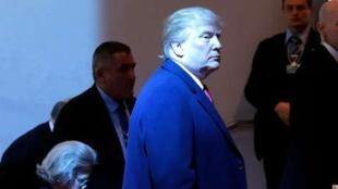 O presidente americano Donald Trump em Davos