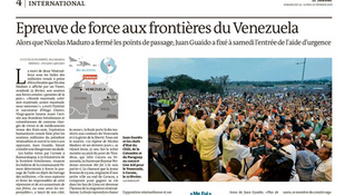 Matéria do Le Monde sobre a tensão na fronteira entre o Brasil e a Venezuela publicada neste sábado, 23 de fevereiro de 2019.
