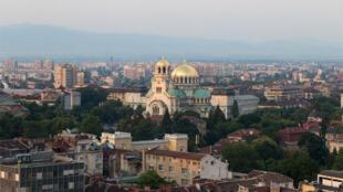 La  cathédrale Alexander Nevski à Sofia.
