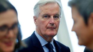 O negociador do Brexit para a União Europeia Michel Barnier, em Bruxelas, em 10 de outubro de 2018.