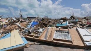 Le quartier de Mudd, à Marsh Arbour, sur l'île d'Abaco, après le passage de l'ouragan Dorian, le 11 septembre 2019.