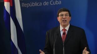 O ministro cubano das Relações Exteriores, Bruno Rodriguez.