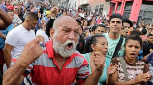 Protesta contra la escasez de alimentos en Caracas el 14 de junio de 2016.