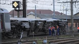 Scene of the fatal train accident at Brétigny-sur-Orge.